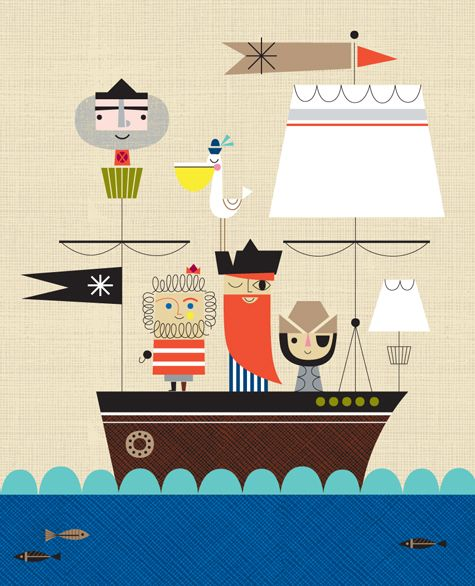 Pirates illustration - Suzy Ultman