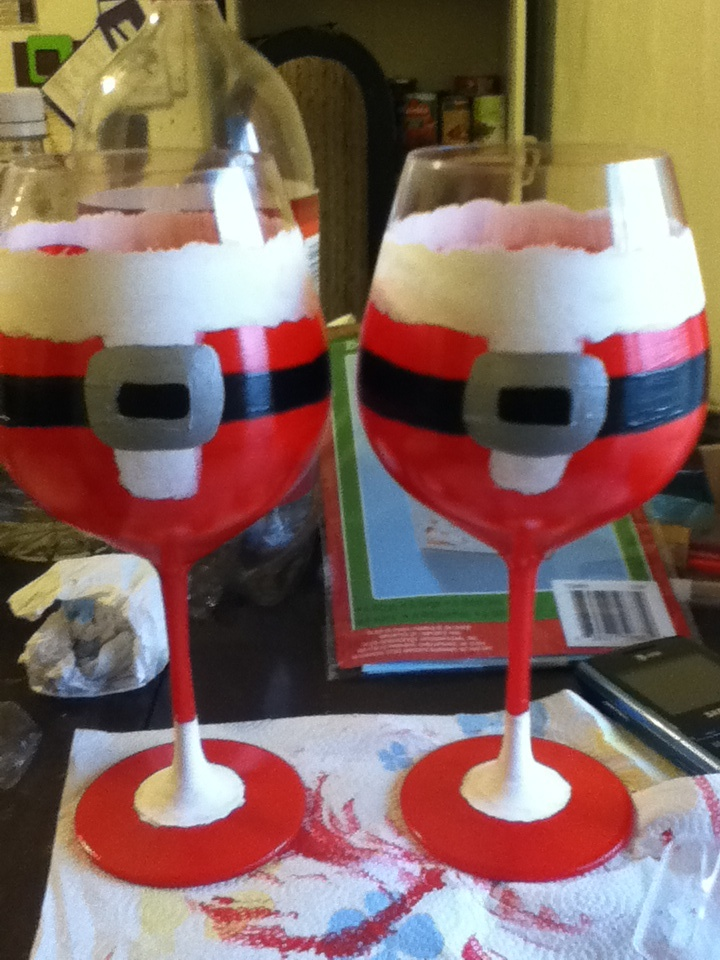 1000 images about crafts wine glass painting on for Acrylic paint on wine glasses