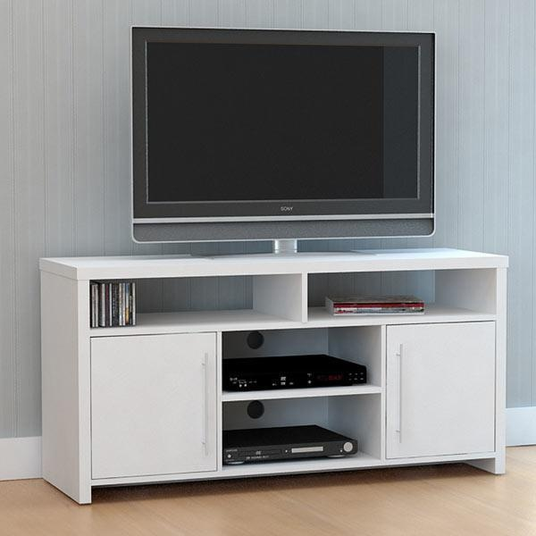 Mia Entertainment Unit White Lowline Tv Stand Cabinet