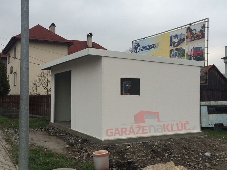 Prefabricated garage.