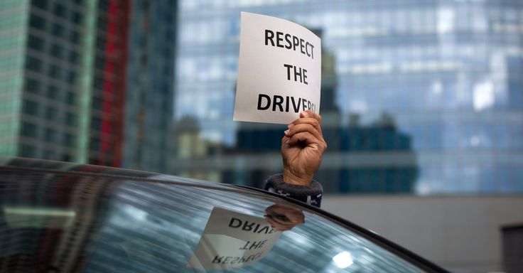 Hundreds of Uber drivers gathered at the New York headquarters of the ride-sharing service to oppose fare cuts imposed last month, a move the company said lifts demand during slow winter months.