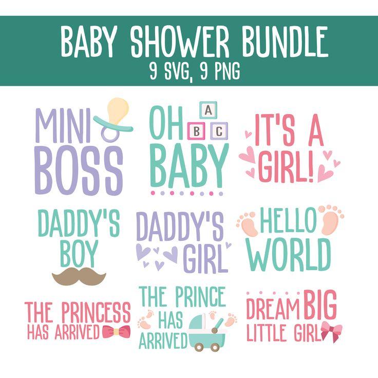 Baby shower SVG bundle, baby boy SVG, baby girl SVG, baby