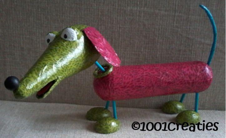 Deze hond is eenvoudig te maken, ook als surprise! Kijk voor het patroon op ons blog.