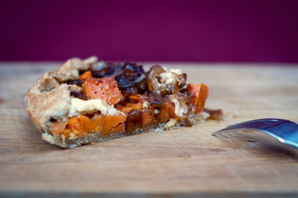 Sweet potato galette with balsamic-­caramelized onions and ...
