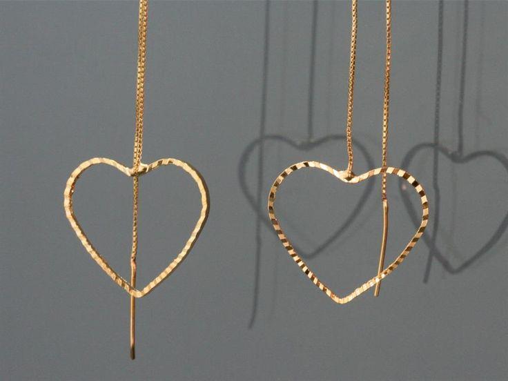 Metal Kalpli Uzun Küpe