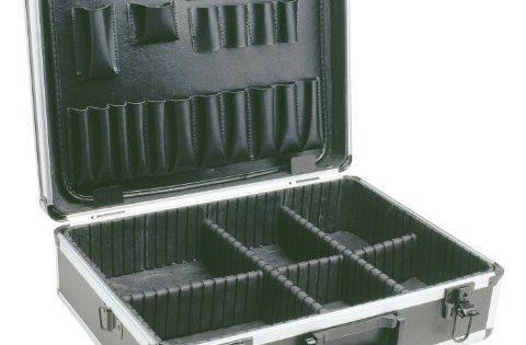 Cogex 62025 Valise de rangement aluminium: Valise aluminium de rangement 450 x 335 x 150 mm avec double cloison porte outil + séparateurs…