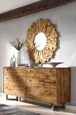 Comó Madia in legno teak : Collezione CALVIN