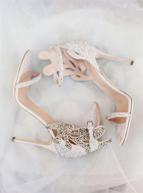 Rose Gold Wedding Shoes   Jessica Burke Photography   http://heyweddinglady.com/metallic-bohemian-wedding-ideas-coral-copper