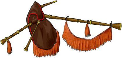 GAITA GALLEGA La gaita, también llamada cornamusa[1] (no confundir con la cornamuse francesa, diferente a la cornemuse, gaita) es un instrumento musical de viento que, en su forma más simple, consiste en un tubo perforado (puntero) provisto de una lengüeta sonora e insertado en un odre que contiene una reserva de aire. El aire entra en la bolsa u odre (fuelle o fol) a través de un segundo tubo (portaviento o soplete), por donde ha sido insuflado generalmente desde los pulmones del propio…