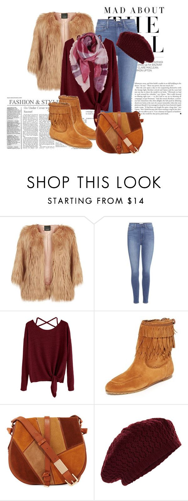 """Faux fur jacket"" by janie-xox ❤ liked on Polyvore featuring Kershaw, Pinko, Paige Denim, Aquazzura, Foley + Corinna, Accessorize and Humble Chic"