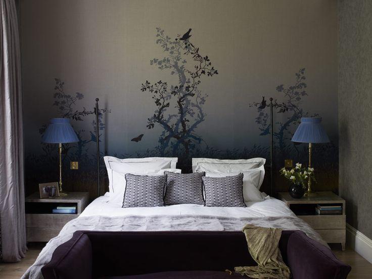 Digitally printed Timorous Beasties fabric wall panels.(Scottish designers based in Glasgow)