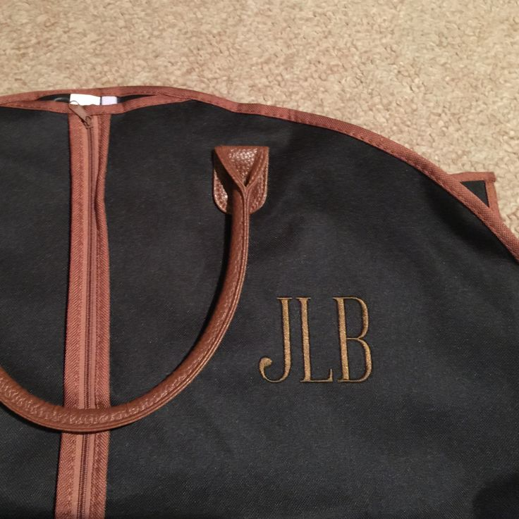 Personalized Men's Garment Bag - Monogrammed Hanging Bag - Personalized Garment Bag - Groomsmen Gift by MJMonograms on Etsy