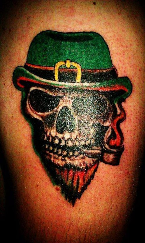 Irish Skull Tattoos Irish Pride Skull Tattoo Places To