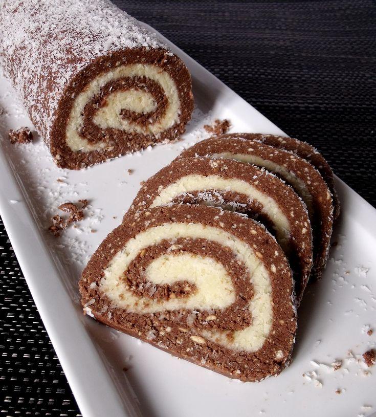 Citromhab: Kókuszos keksztekercs