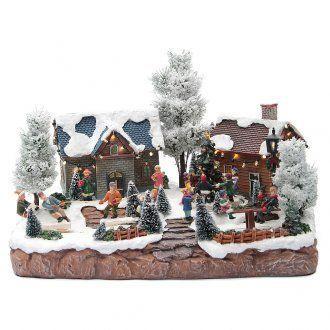 Villaggio invernale musicale giochi 35x25x25 cm