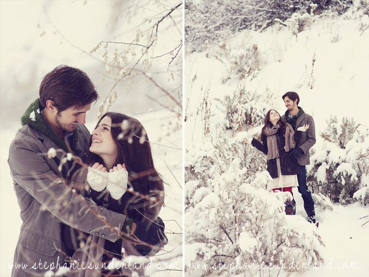 winter engagements in the snow. Cute clothing for winter engagement sessions.