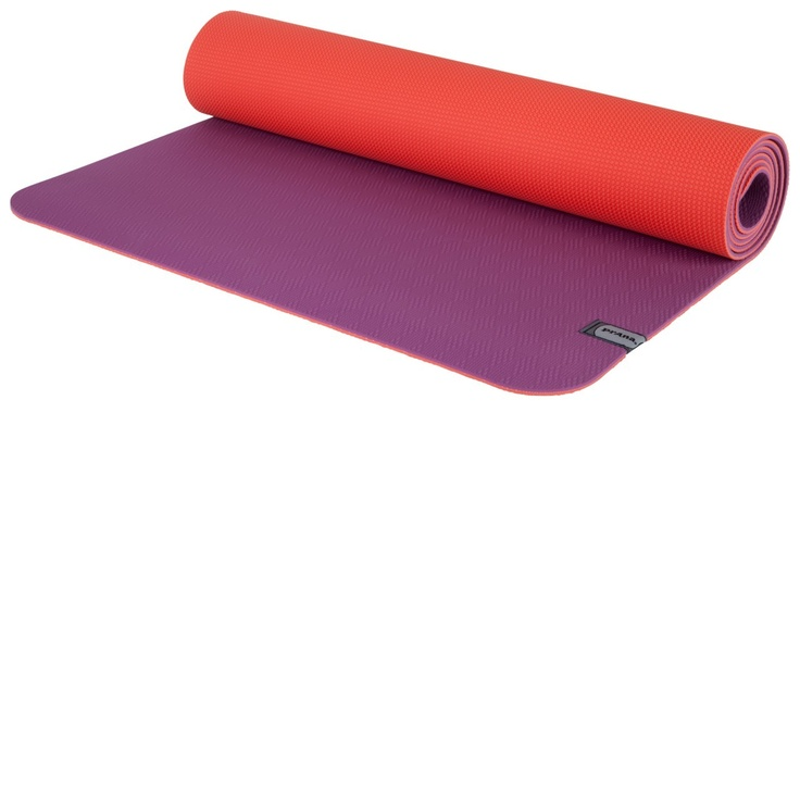 prAna reversible ECO sticky mat in berry neon orange (http://www.kamalaom.com/prana-e-c-o-yoga-mat-berry-neon-orange/)