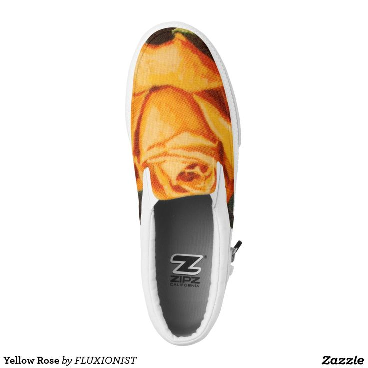 """The new flower series has arrived on Zazzle. """"Yellow Rose"""" Printed Shoes - $77.00 Made by Delta Custom / Design: Fluxionist"""
