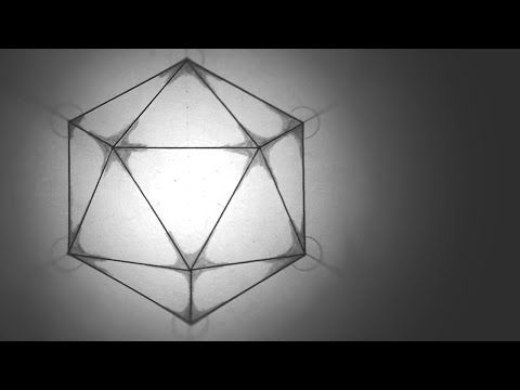 How To Draw Icosahedron - The 5 Platonic Solids Tutorials - YouTube