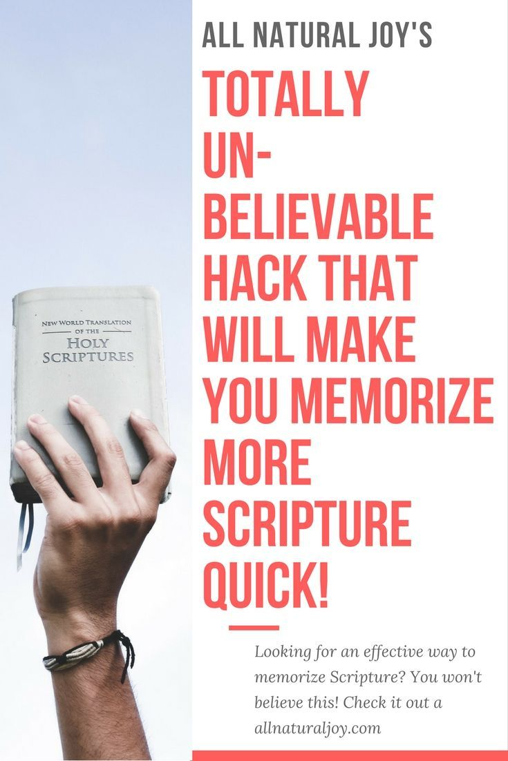 This is the easiest scripture memory trick I have every found. Memorize scripture quickly by trying this.