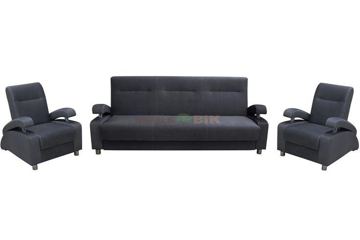Zestaw wypoczynkowy do salonu Quattro z fotelami - WM-Meble - sklep meblowy Meble BIK