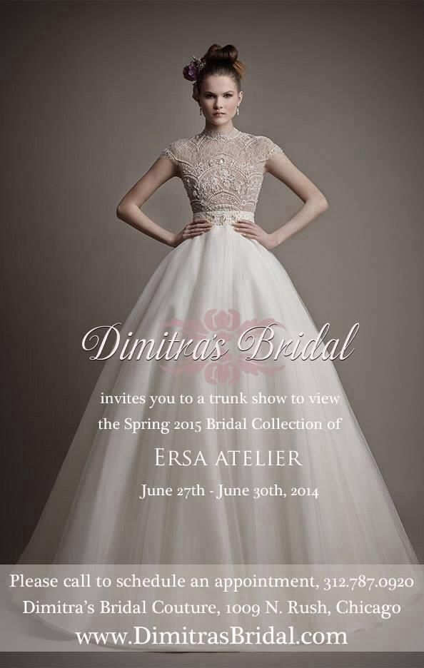 wedding dress hire cape town northern suburbs%0A You are all invited to join us for a trunk show  this weekend  at  Dimitra u    s Bridal  Chicago
