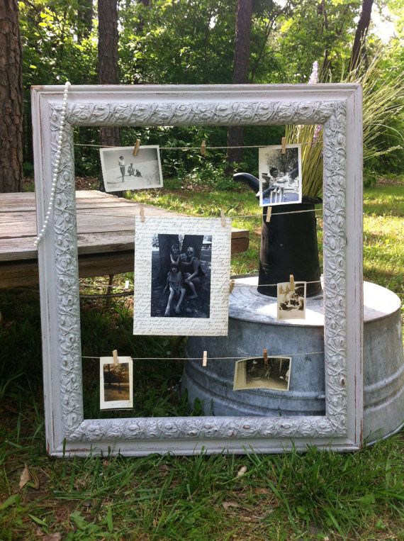 Vintage Syroco Wood Ornate Frame Memo Board Shabby Chic French Country Home Decor Wedding Decor Rustic Wedding