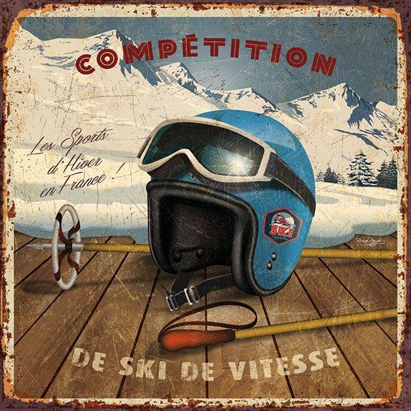 vintage skiing creation © bruno pozzo 2015
