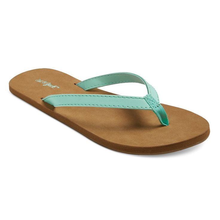 Solid Flip Flop Sandals Cat & Jack - Mint M, Green