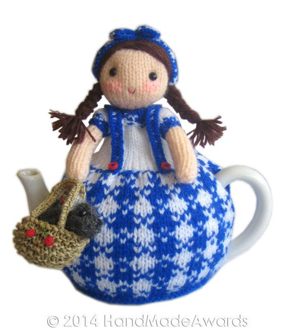 Dorothy and Toto from the Wizard of Oz Tea Cosy Pdf Email Knit PATTERN