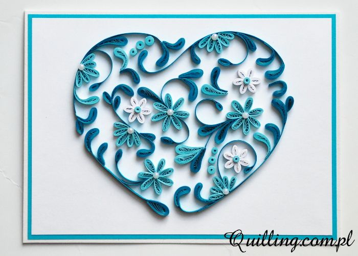 396 best quilling hearts images on pinterest for Quilling heart designs