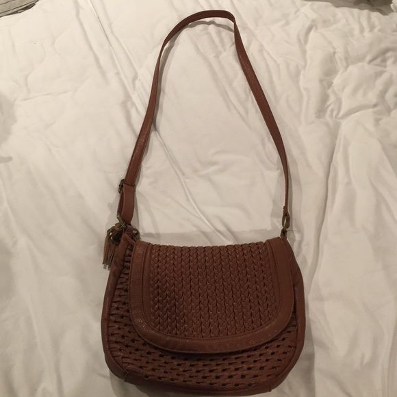 Urban Outfitters cross-body purse Brown ecote purse from urban outfitters. Good condition. Urban Outfitters Bags Crossbody Bags