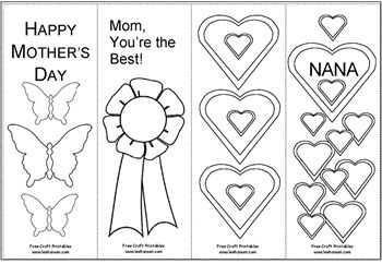 mother 39 s day coloring bookmarks mother mom coloring coloring pages puzzles and. Black Bedroom Furniture Sets. Home Design Ideas