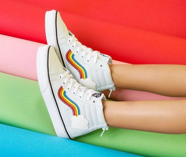 rainbow vans size 4