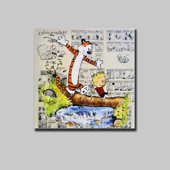 Canvas Print of Calvin and Hobbes