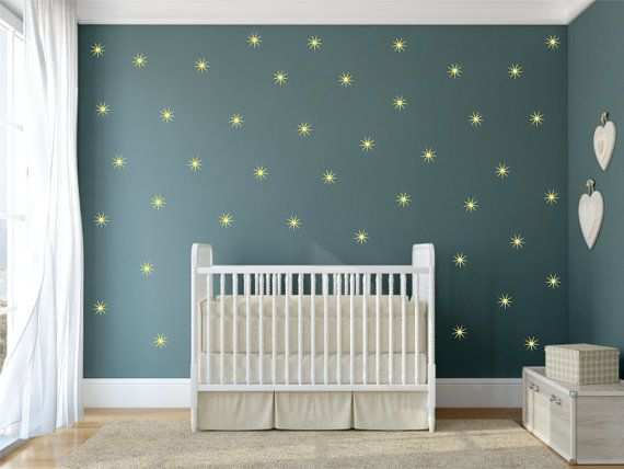 Le Stars Vinyl Wall Decal Set Of 25 Star Stickers Decals Baby Nursery Shaped