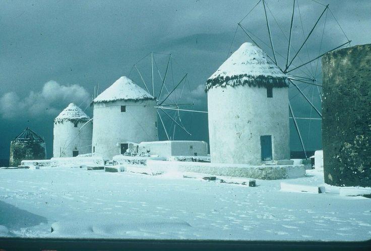Mykonos snow