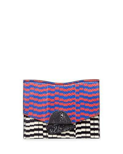 Proenza Schouler New Small Mixed-Print Snakeskin Clutch Bag, Multi
