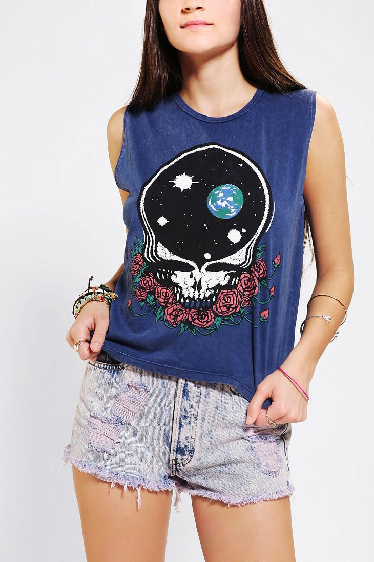 LIFE Grateful Dead Skull Muscle Tee #urbanoutfitters