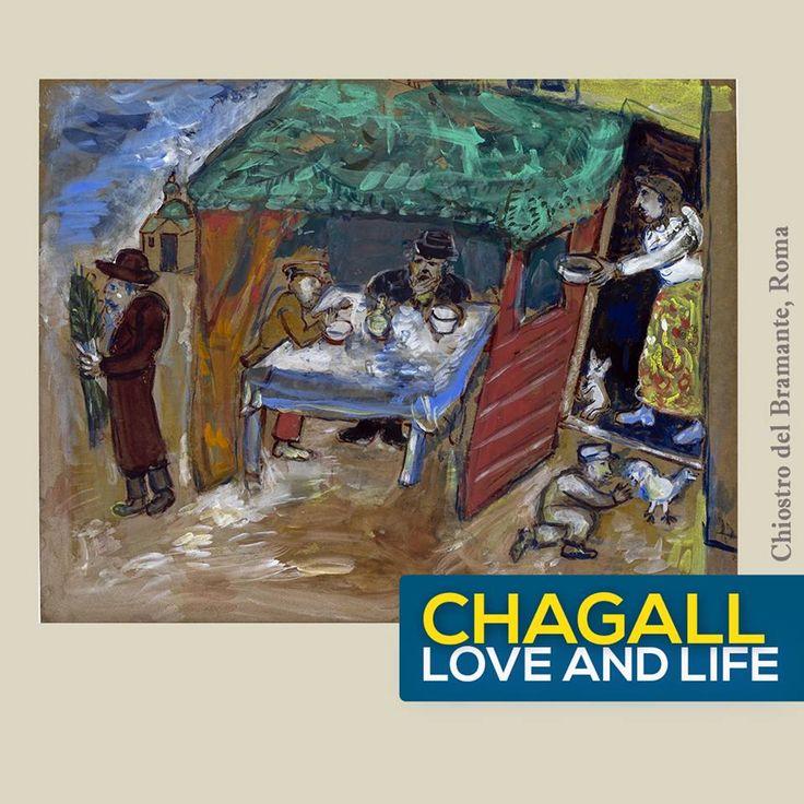 - E' il 1909, Chagall mostra una certa familiarità con la pittura francese, guardando al grande Henri Matisse. Rossi che contrastano con il verde, corpi che perdono voluminosità a favore di uno studio più intimista -