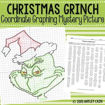"This is a great activity where students graph points on a coordinate plane and it creates a picture of the Grinch! The clever title of ""You're a Mean One"" gives them a clue to what the picture will be. The points include ordered pairs from all four quadrants and decimals such as (1.5, -4.5).**Please check out the preview for a detailed view!**"