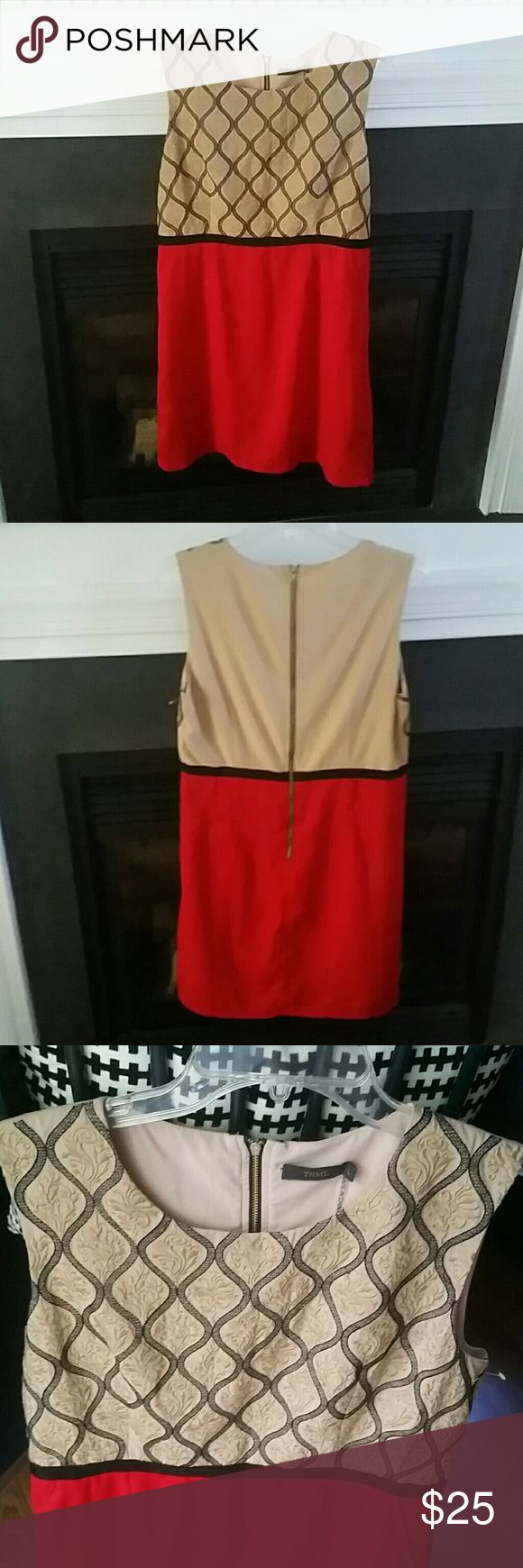 THML Business Dress Adorable Gold and Red dress from a local boutique. Amazing look in flawless condition. Boutique Dresses