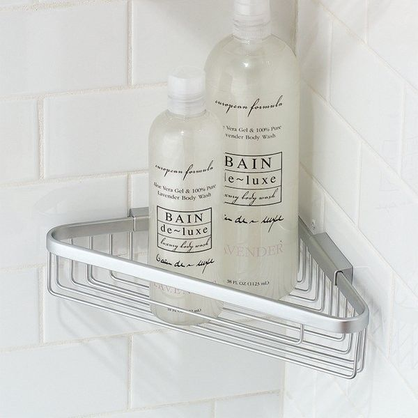 Best Shower Corner Shelves Images On Pinterest Corner Shelves - Metal corner shelf bathroom for bathroom decor ideas