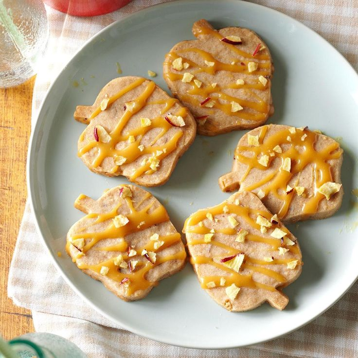 Caramel-Apple Shortbread Cookies Recipe -There is nothing like seeing my friends almost melt to the floor when they bite into something I made. These cookies never fail to elicit oohs and aahs. —Amber Taylor, Lenoir City, Tennessee