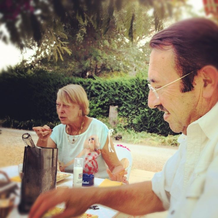 Rita + Maurice. Why: Because she makes the best homemade jam in the Bouches de Rhone. Find them at La Vigueirado — a Chambre d'Hote in St Etienne du Grés.