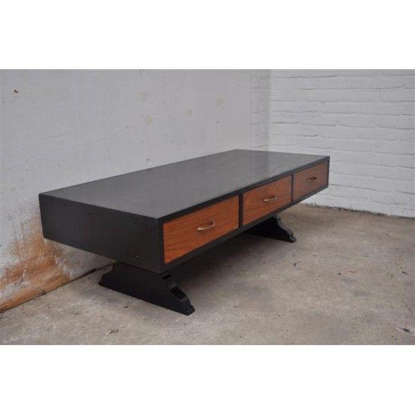 industriële salontafel, vintage tafel, industrieel, industrial table