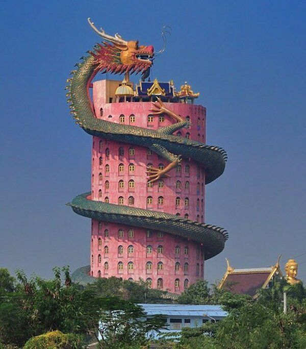 Wat Samphran Temple, Khlong Mai, Thailand