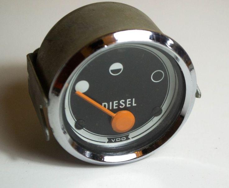 VDO Diesel Gauge - OLD CAR VDO Diesel Gauge - Germany VDO Gauge - Vintage Gauge #VDO