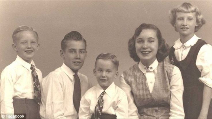 """Donald Trump with his siblings.  Second to left, Frederick Christ """"Freddy"""" Trump Jr. (1938–1981), an airline pilot with Trans World Airlines, Robert Trump (born 1948), president of his father's property management company, Maryanne Trump Barry (born 1937), a federal appeals court judge, and Elizabeth Trump Grau (born 1942), an executive assistant at Chase Manhattan Bank."""