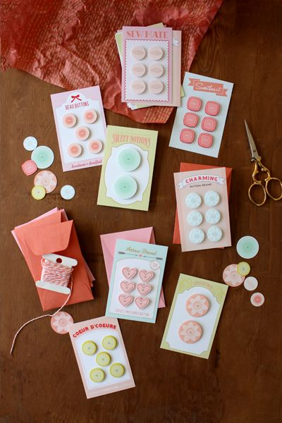 Free Button Card Printables.  Read the post under the photos to find the pdf file to pick up.